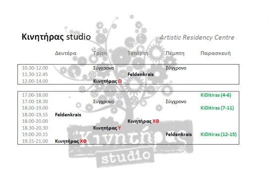 2015-16: Πρόγραμμα σταθερού κύκλου μαθημάτων - Kinitiras Studio