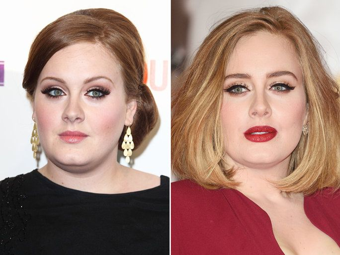 Celebrity Eyebrows: See How They Change Their Face Shape - Adele then & now