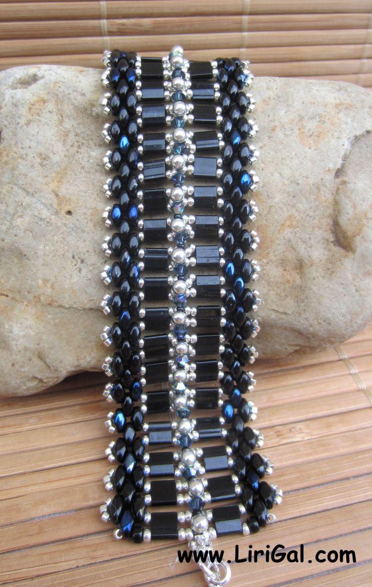 Tutorial Karin SuperDuo and Tila Beadwork Bracelet PDF by Lirigal