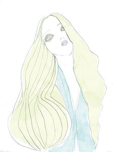 fashion model illustrations