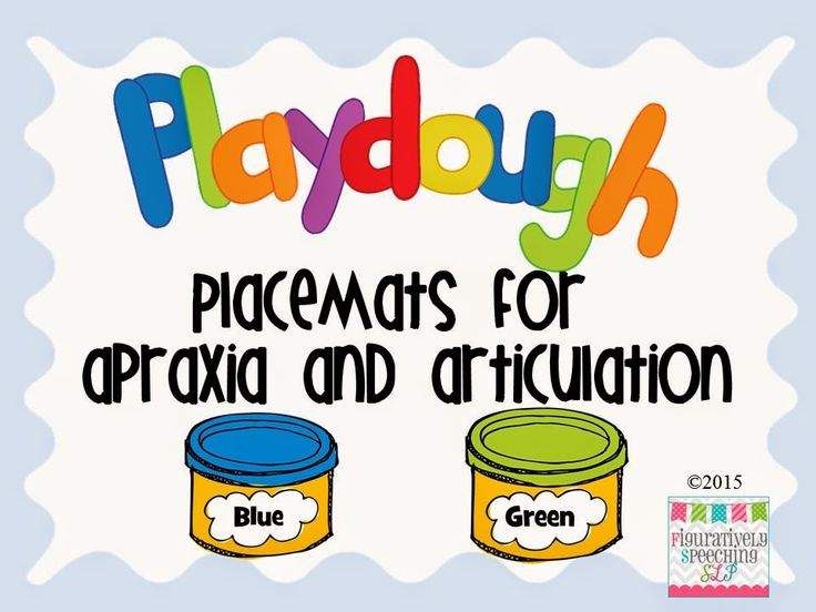Speechie Freebies: Play Dough Placemats for Apraxia and Articulation. Pinned by SOS Inc. Resources. Follow all our boards at pinterest.com/sostherapy/ for therapy resources.