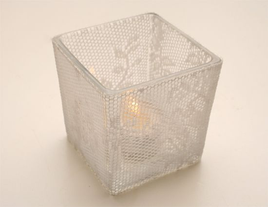 DIY Lace Candle Holder | Candle Making | CraftGossip.com