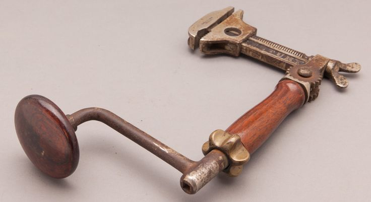 JOHNSTON PATENT 1901 Combination Tool Brace Wrench by LOWENTRAUT