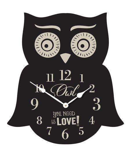 Owl Wall Clock. Shut up and take my money!!  Beatles meets owl clock!!!!