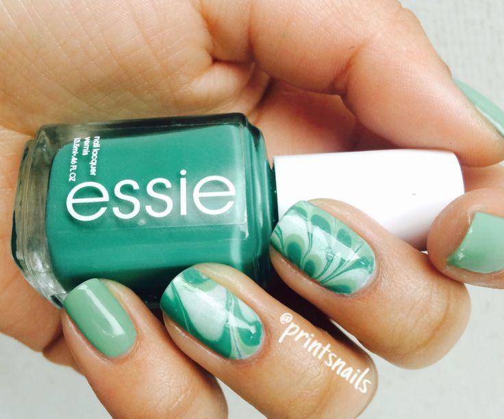 Otro intento de diseño watermable para el concurso de Essie Chile. Me encanta ese color  Espero les guste!   Other intent of watermable design for the competicion of Essie Chile. I love this color  I hope like you!