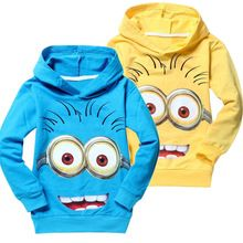 Unisex delle ragazze dei ragazzi vestiti manica lunga bambini vestiti di autunno magliette del ragazzo di despicable me minion bambini hoodies della ragazza t-shirt(China (Mainland))