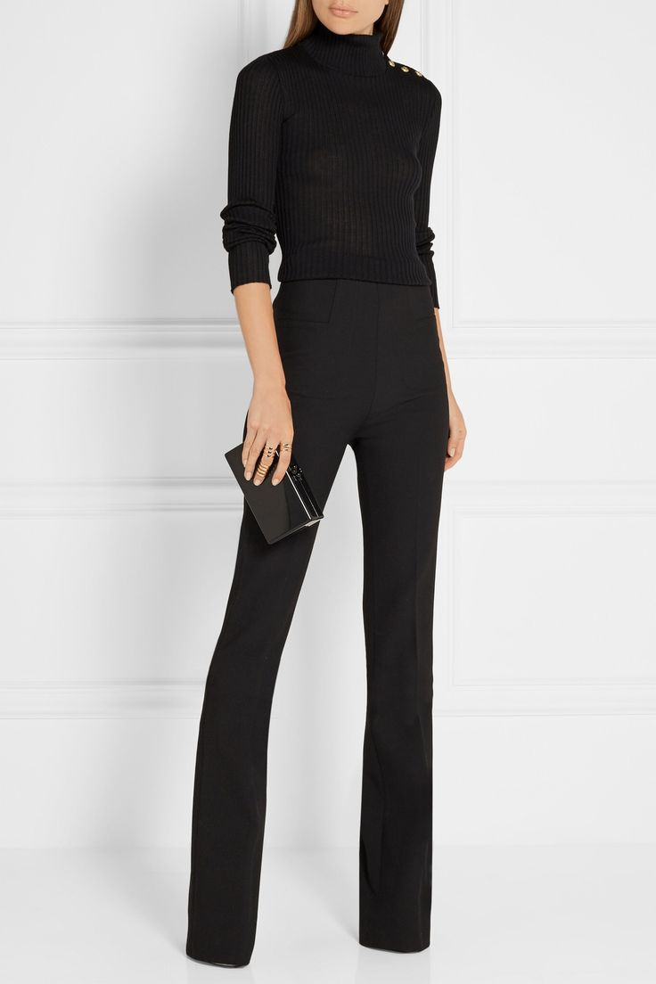 Balmain sweater & Roland Mouret pants