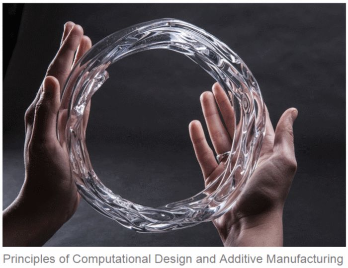 Mediated Matter MIT Glass 3d printing - There is another pin on this board for fusing sand to make glass with focussed sunlight - AN