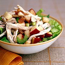 Weight Watcher Turkey-Apple Salad with Raspberry Vinaigrette 5 Pts+ .. I might tweak this for my Shrinking On A Budget Meal Plans... It would be a great use for Planned Leftover (chicken).  Looks refreshing yet filling.