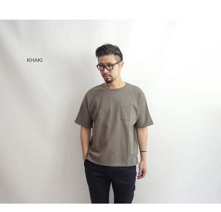 Upscape Audience スーパー度詰め天竺 5分袖 Tシャツ ロールアップ ドルマン ビッグシルエット 日本製 メンズ
