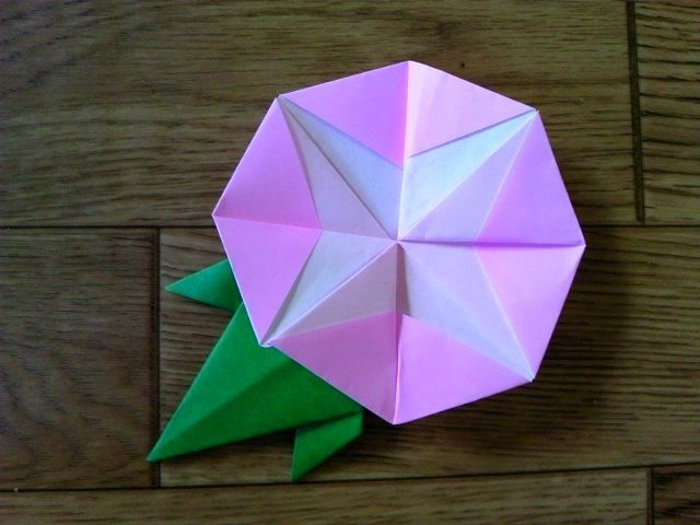 Origami [Morning glory] 夏にピッタリ!折り紙で「あさがお」を作る方法 | nanapi [ナナピ]