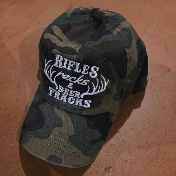 Hat {Love me like you love deer season, duck season OR fishing} Rifles racks & deer tracks