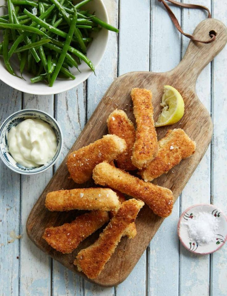 Salmon Fish Fingers & Green Beans