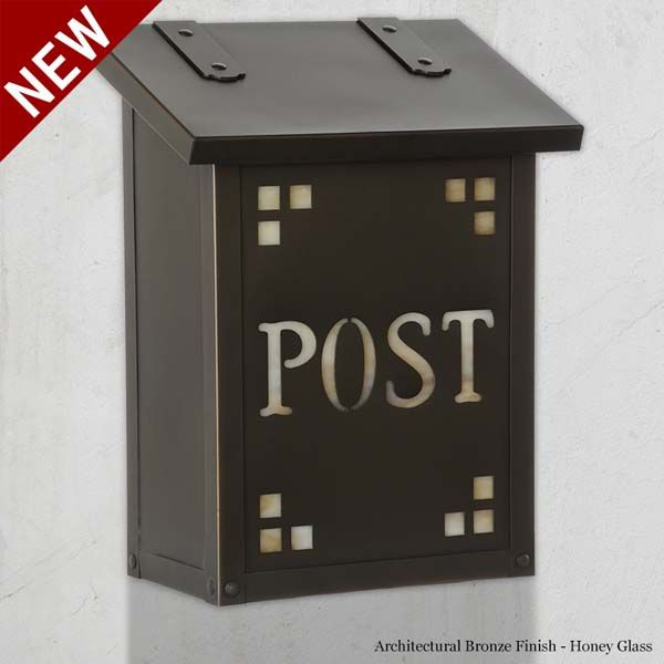 the post cutout vertical craftsman wall mount mailbox is a classic wall mounted