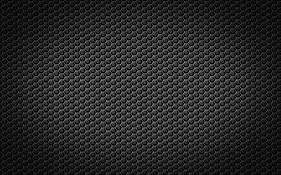 Scarica sfondi texture, nero texture, esagoni, moderno texture