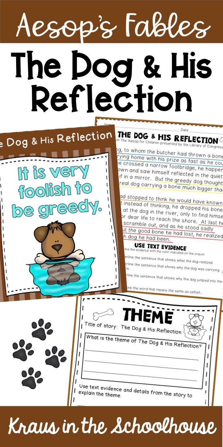 Using Aesop S Fables With Students Is A Fun Way To Teach Theme The Dog His Reflection Is The Perfect Fable To Id Teaching Themes Reading Vocabulary Teaching [ 1440 x 720 Pixel ]