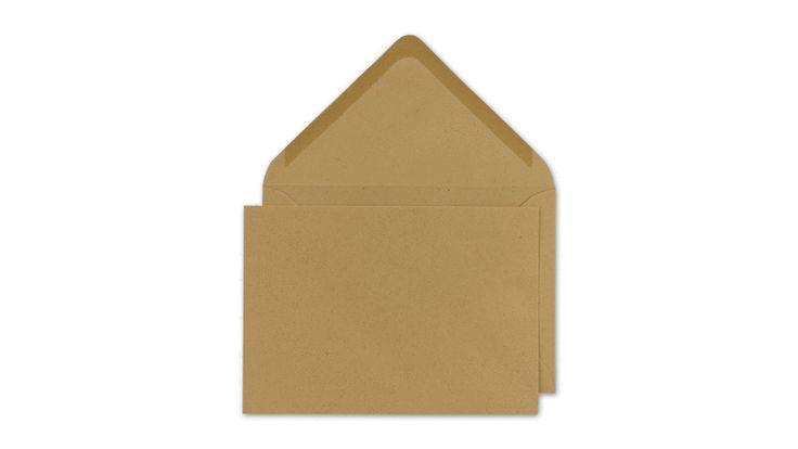 Briefumschlag C6, Manila beige, nassklebend