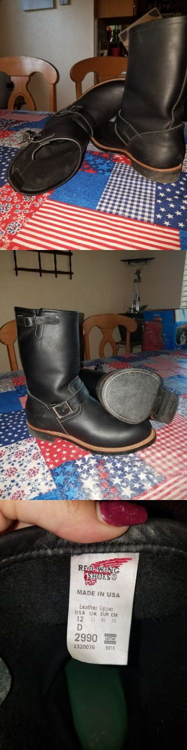Boots 11498: Red Wing Heritage 2990 11-Inch Engineer Black Leather Men S 12D Boots -> BUY IT NOW ONLY: $250 on eBay!