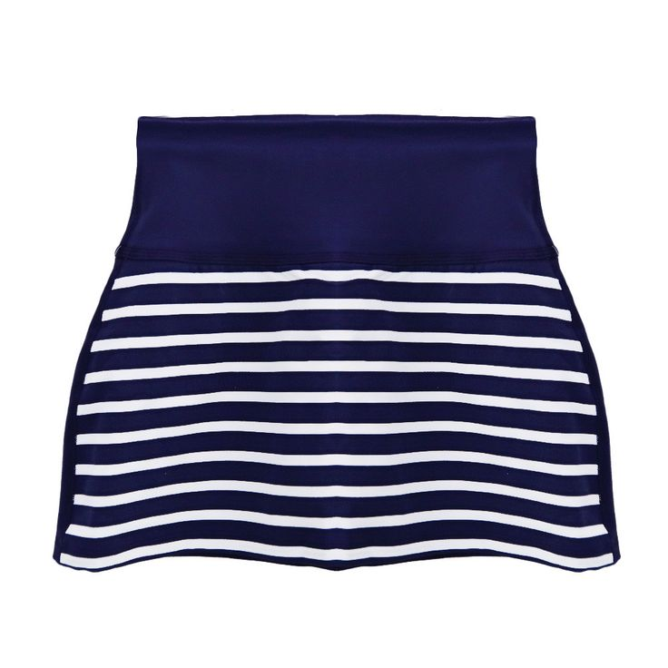 Striped Navy Blue & White Tennis Skirt
