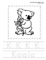 Australian Animals Alphabet Coloring Pages