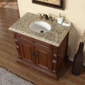 Image On  Bathroom Vanity With Granite Top