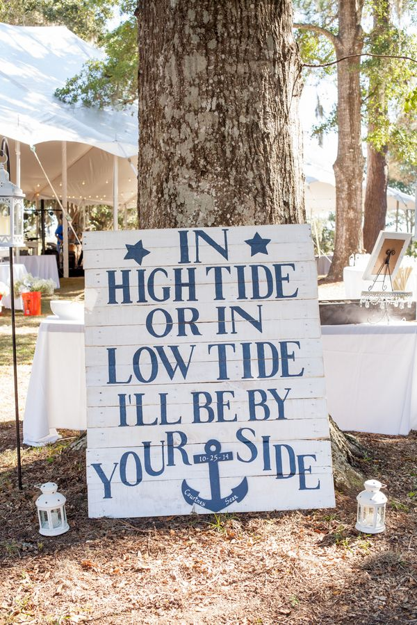 Coastal wedding details at Sunnyside Plantation wedding