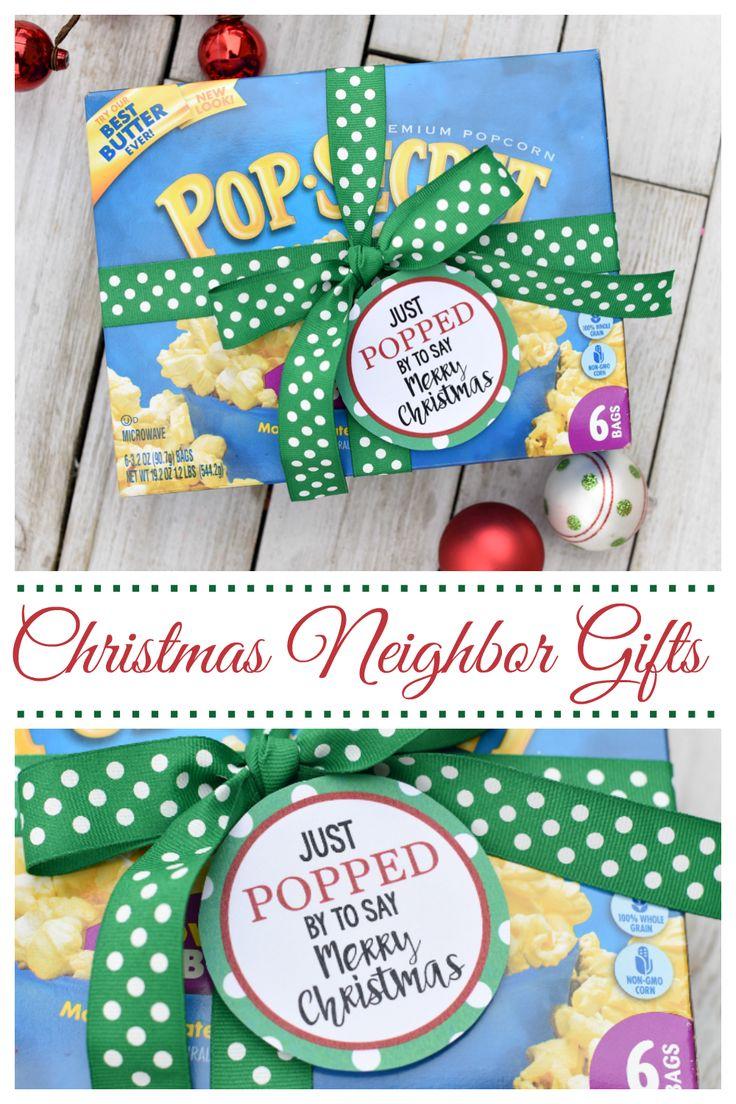 Just popped bysimple christmas neighbor gifts neighbor