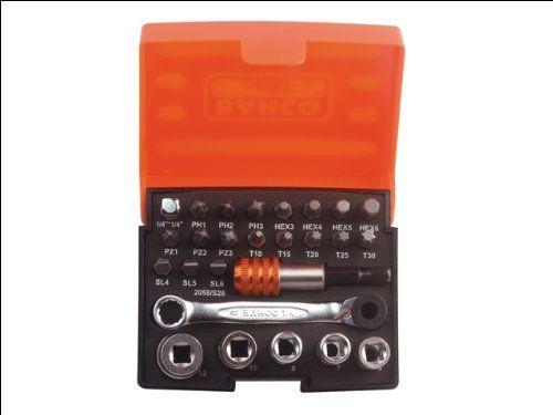 Bahco 2058/S26 Ratchet Socket Bit Set 26 Piece Snap-on : http://www.amazon.com/Bahco-2058-Ratchet-Socket-Piece/dp/B000Y8TIMY/ref=sr_1_9?ie=UTF8&qid=1413671638&sr=8-9&keywords=bahco+wrench+set