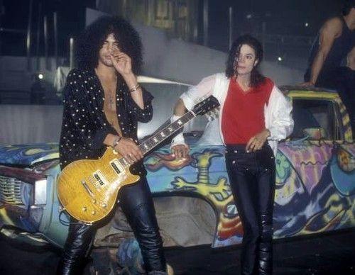 Imagen de slash, michael jackson, and guitar