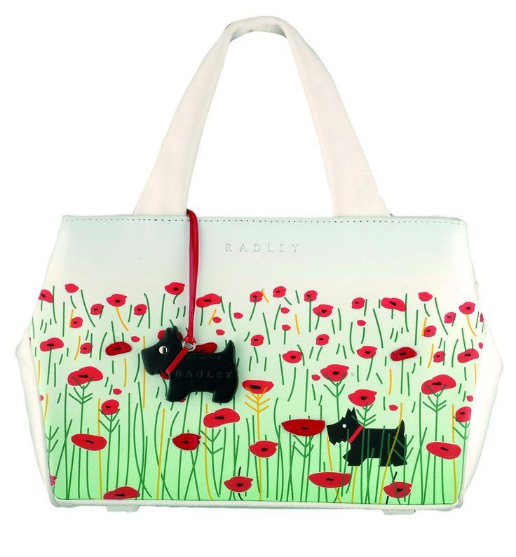 Radley Poppyfield Grab Bag - This lovely Radley poppy design is popular with Radley collectors