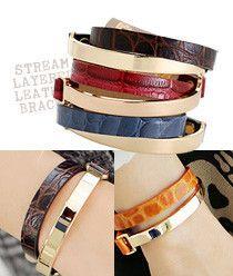 Stream Layered Leather Bracelet