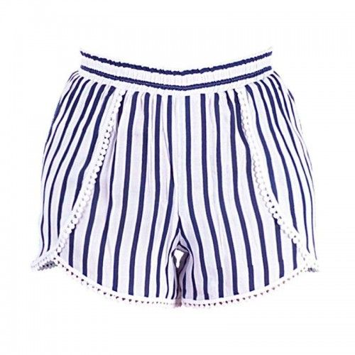 SHORTS WITH BLUE/ WHITE STRIPES LARGE (100% VISCOSE)
