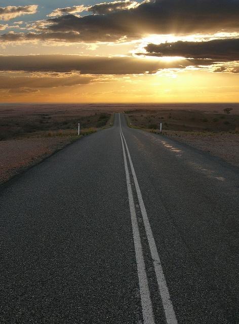 Mundi lookout near Silverton in NSW at sunset