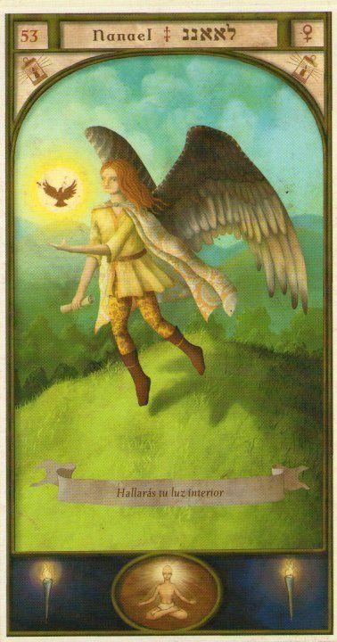 (53) NANAEL (Kabbalistic angel) protects those born 13 - 16 December, protects the religious, teachers, judges and scientists. (ángel Cabalístico) protege aquellos nacidos 13 - 16 diciembre, protege a los religiosos, profesores, magistrados y científicos.