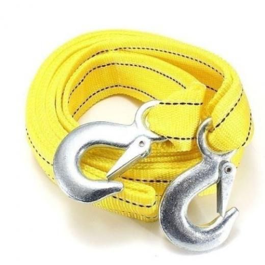 5t 3.64m Tow Towing Pull Rope 2 Heavy Duty Forged Steel Hooks 000000000000