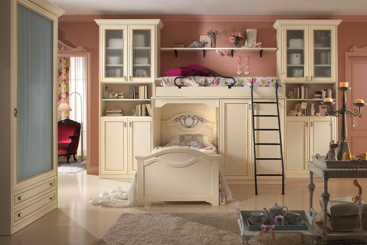 Elegant and stylish bedrooms that make you feel your daughter a real princess. Dreams to be touched. http://www.spar.it/sp/it/arredamento/camerette-gold-103.3sp?cts=camerette_dilettagold