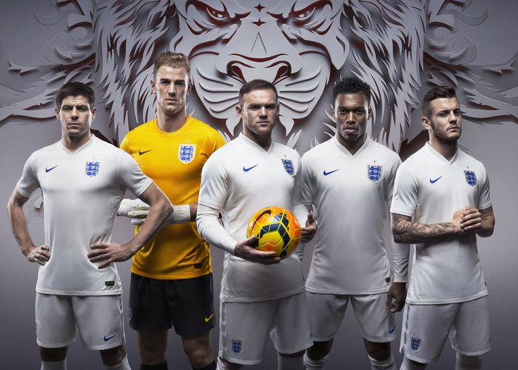 Футбольная форма сборной Англии.