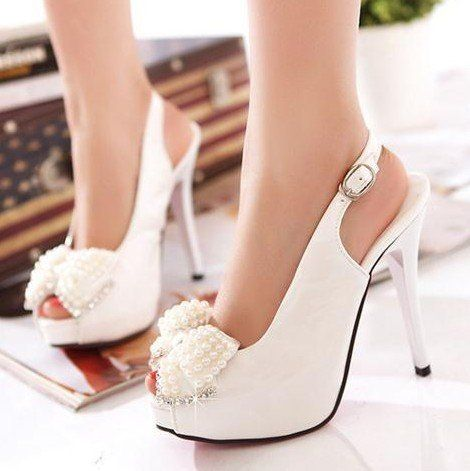 New Arrival 2013 Cheap Fashion Style  PU Sexy High Heels Evenig Shoes Party Shoes Wedding Shoes For Women  886NLLY-in Pumps from Shoes on Aliexpress.com