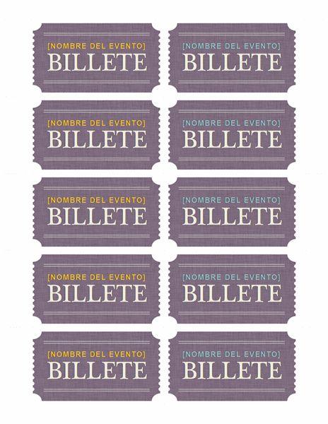 Boletos básicos - Plantillas - Office.com