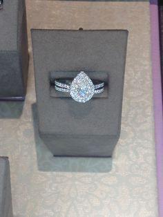 Teardrop engagement ring ♥                                                                                                                                                     More
