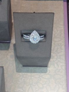 Teardrop engagement ring ♥                                                                                                                                                     More