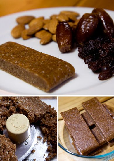 All natural, 150 calorie Fruit and Nut Bars! Warning, you will need a food processor for this particular recipe.