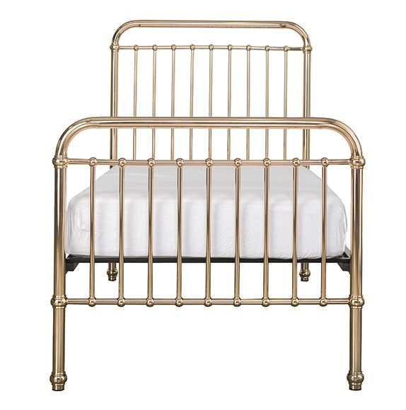 As seen in Georgia & Ronnie's Kids Bedroom in The Block 2017. A classical and timeless Single bed. Eden comes in a gorgeous rose gold colour. Expertly crafted of sturdy and strong metal with simple curves.
