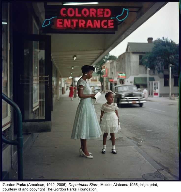 Gordon Parks' (American, 1912-2006). Department Store, Mobile, Alabama, 1956  Gordon Parks' 1950s Photo Essay On Civil Rights-Era America Is As Relevant As Ever
