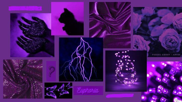 purple aesthetic laptop desktop cute