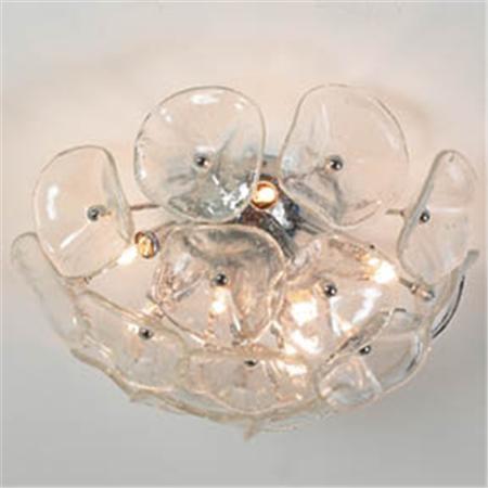 Lotus Glass Ceiling Light - 3 Lt - 2 Colors  $219