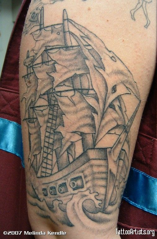 Pirate ship tattoos | this one was fun 506 x 768 px 122 kb