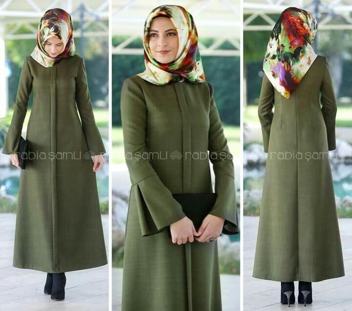 Green army hijab dress