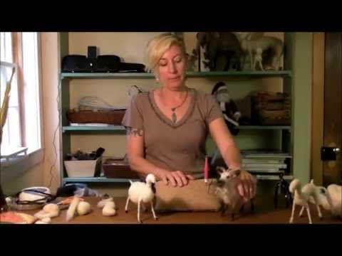 Needle Felting Tutorial - Sarafina Fiber Art Goat Series 3: Building Shapes - YouTube