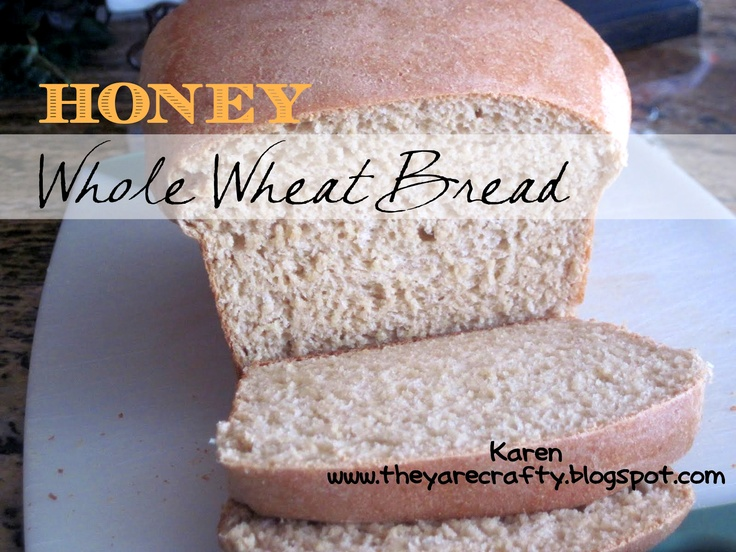 Yummy Honey Whole Wheat Bread  on MyRecipeMagic.com #wholewheat #honey #bread